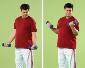 تمرین جلو بازو
