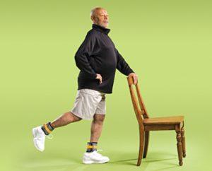 تمرین بلند کردن پا از پشت