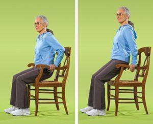 تمرین با دستگیره صندلی