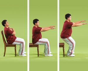 تمرین ایستادن با صندلی