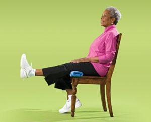 تمرین پا و صندلی