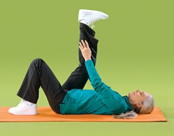 تمرین پشت پا درازکش تمرین های انعطاف پذیری