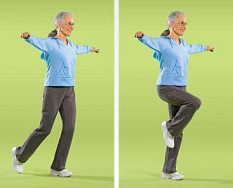 تمرین پیاده روی تعادلی تمرین های تعادل