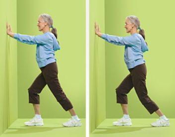 کشش عضلات کالف تمرین های انعطاف پذیری