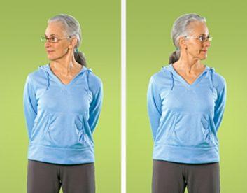 تمرین کشش عضلات گردن تمرین های انعطاف پذیری