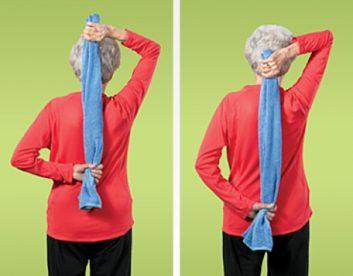 تمرین سرشانه و بالای بازو تمرین های انعطاف پذیری
